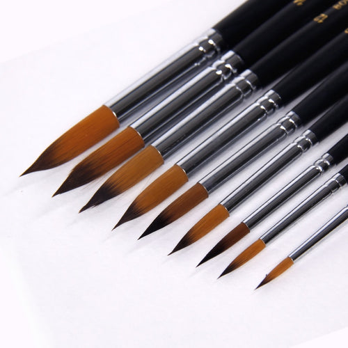 BGLN 9 Pcs Long Handle Filbert Head Paint Brush Set