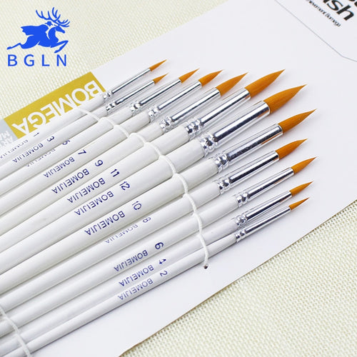 BGLN 12 Pcs Round Tip Paint Brush Set