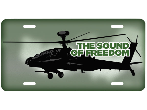 Sound of Freedom license plate - Apache