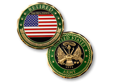Army Retired coin