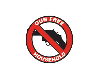 Gun Free Household sticker - for novelty purposes