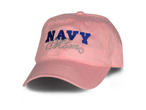 Navy Mom hat - Pink