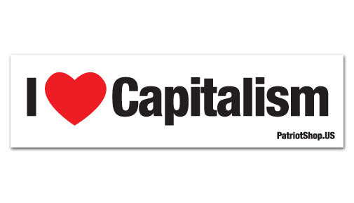 Capitalism sticker