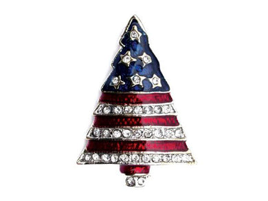 Stars and Stripes Tree pin