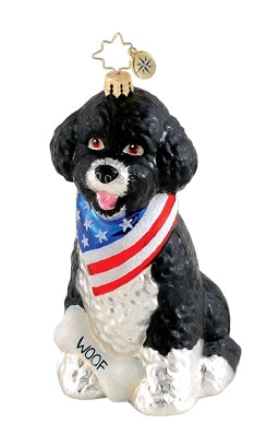 Radko Patriotic Pooch ornament