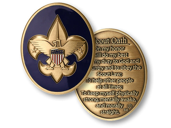 Scout Oath coin