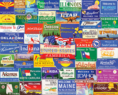 Welcome Road Signs puzzle