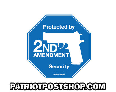 2nd Amendment Security sticker