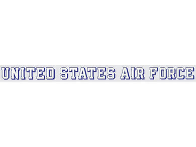Air Force window strip decal