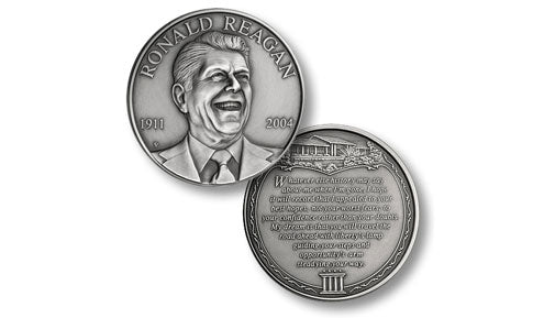Ronald Reagan silver medallion