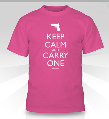 Keep Calm and Carry One shirt - pink