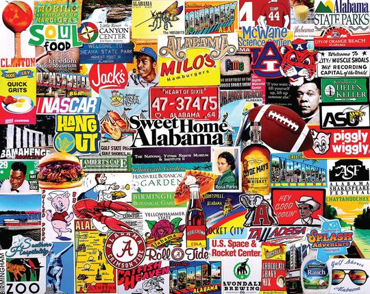 I Love Alabama puzzle