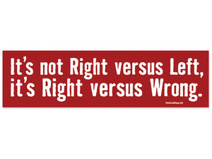 Right vs. Wrong sticker