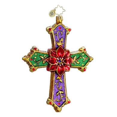 Radko Christmas Cross ornament