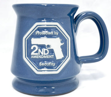 Second Amendment Security pottery mug
