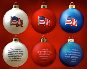 Patriot Exclusive Reagan Ornament set