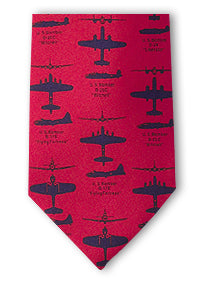 WWII Bomber Planes tie