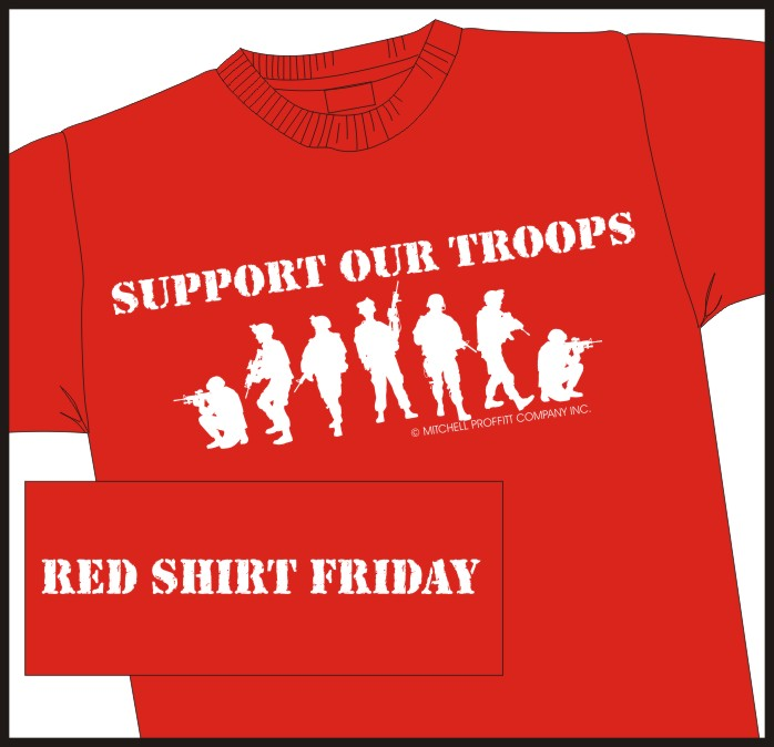 Support our Troops Red Shirt Friday t-shirt