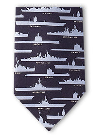 WWII Ships and Submarines tie