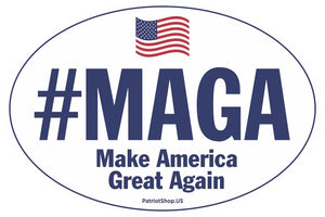 #MAGA - Make America Great Again oval sticker