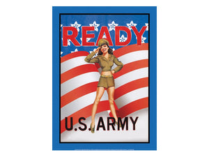 Army retro tin sign