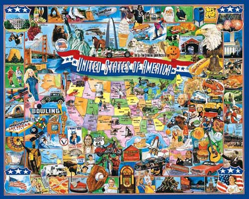 United States of America puzzle - 1000 piece