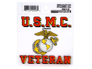 Marine Veteran decal
