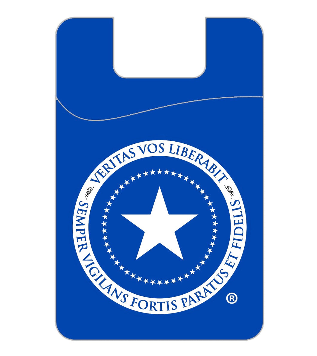 Patriot Post phone wallet - bright blue