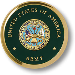 Army Seal Brass Paperweight Coaster