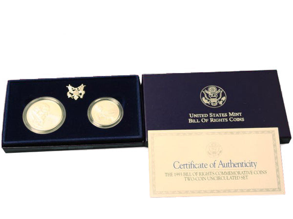 1993 Bill of Rights Two Coin Set BU