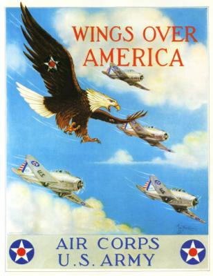 Wings Over America - Army Air Corps wooden puzzle