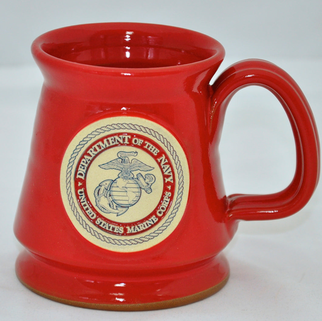 Marine pottery mug - red
