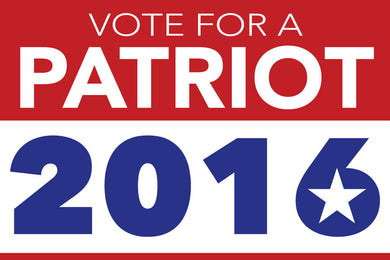 Vote for A Patriot 2016 sticker