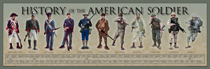 History of the American Soldier poster