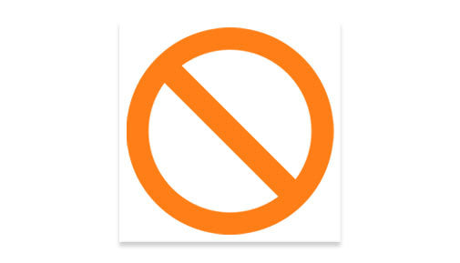 No! decal - orange