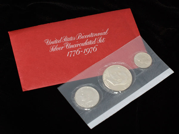 1976 Bicentennial 3-Piece Silver Mint Set