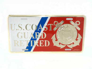 Coast Guard Retired license plate