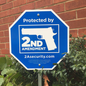 Second Amendment Security yard sign