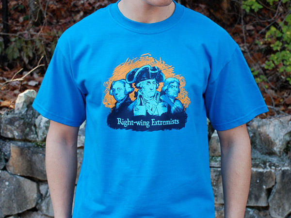 Right-Wing Extremists t-shirt -small or medium- Sapphire blue