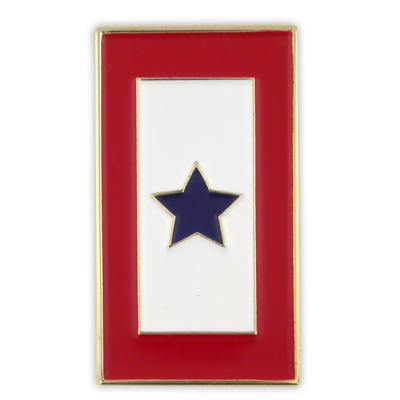 Blue Star Service lapel pin - vertical