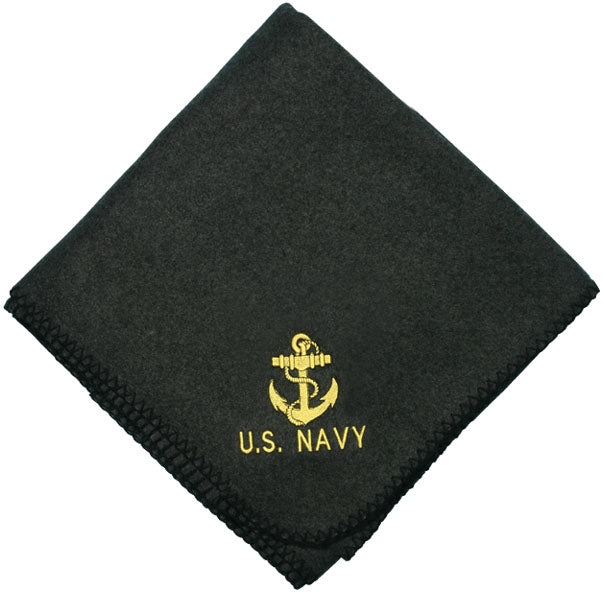 Navy Anchor stadium blanket