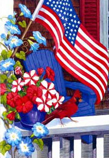 Patriotic Porch garden flag