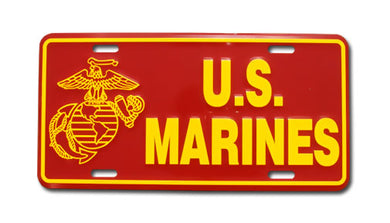 Marine license plate - emblem and text