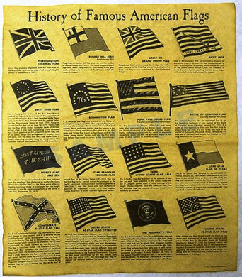History of Famous American Flags document