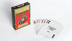 Marines playing cards