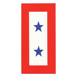 Blue Two Star Service decal