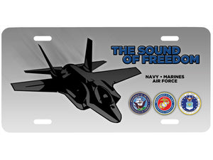 Sound of Freedom license plate - F35