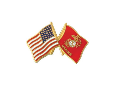 Marine Crossed Flag pin