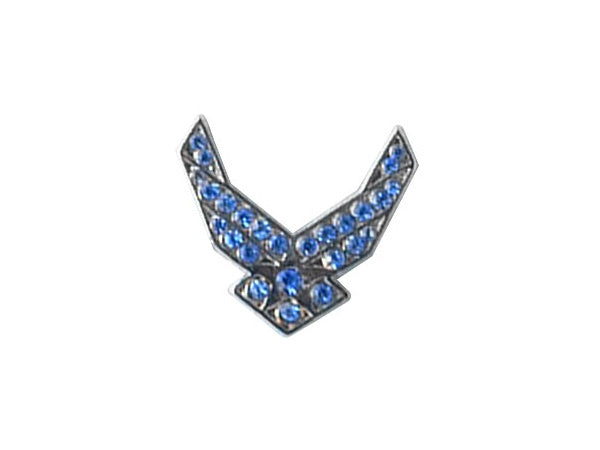 Air Force Wings Gemstone lapel pin