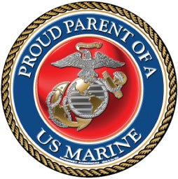 "Marines ""Proud Parent"" magnet"
